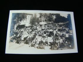 1907 Garden City Kansas Auto Meet Real Photo Postcard