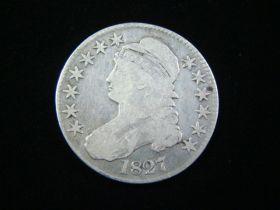 1827 Capped Bust Silver Half Dollar VG+ 11109