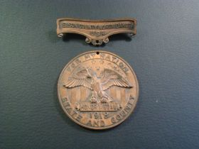 1918 WW1 Nelson County North Dakota For My Nation Honor Medal By Robbins Co.