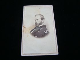 1860's Early Original CDV Photo William Tecumseh Sherman In Uniform