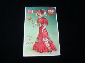 1907-15 State Of Kansas Patriotic Postcard