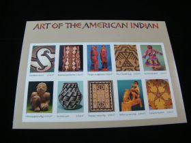 U.S. Scott #3873 Pane Of 10 Mint Never Hinged Art Of The American Indian
