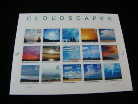 U.S. Scott #3878 Pane Of 15 Mint Never Hinged Cloudscapes