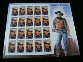 U.S. Scott #3876 Pane Of 20 Mint Never Hinged John Wayne