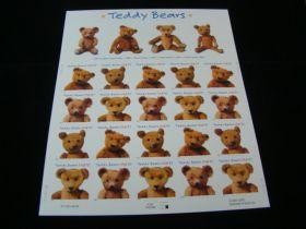 U.S. Scott #3653-3656 Pane Of 20 Mint Never Hinged Teddy Bears