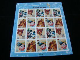 U.S. Scott #3865-3868 Pane Of 20 Mint Never Hinged The Art Of Disney Friendship