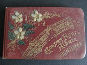 "1880's Ohio Victorian ""Golden Floral Album"" Autograph Book"