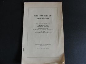 1940 The Parade of Inventions 150th Anniversary of the US Patent System Booklet