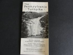 1937 The Pennsylvania Turnpike Booklet with Ticket Stub and Receipt