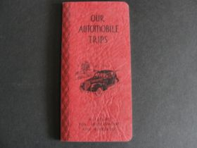 "1938 ""Our Automobile Trips"" Book Partially Used"