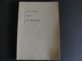 1930 Some Things About New Hampshire Book Second Edition Revised