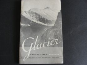 1938 Glacier National Park Guide Book with Fold-Out Map