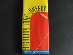 1938 Oregon State Highway Commission Highway Map