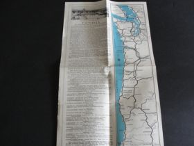 Vintage Map of Victoria, B.C. and Vancouver Island, Canada