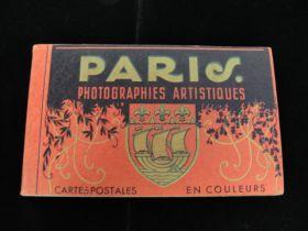 Vintage Paris Artistic Photographs Book of 20 Postcards