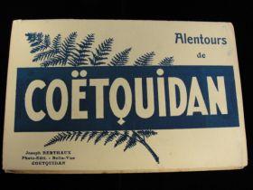 Vintage Coetouidan French Postcard Book With 10 Postcards