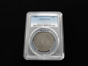 1808 Capped Bust Silver Half Dollar PCGS Graded VF30