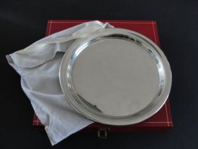Vintage Cartier Pewter Serving Plate in Original Box