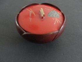 Vintage Japanese Lacquer Ware Lidded Rice Bowl