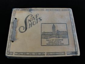 1933-1934 Chicago World's Fair Snap Shots Booklet Unused
