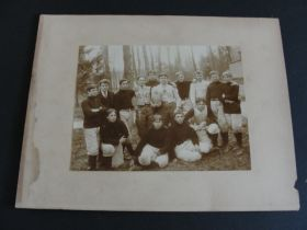 C. 1890 Early American Football Team Large Cabinet Photo Card