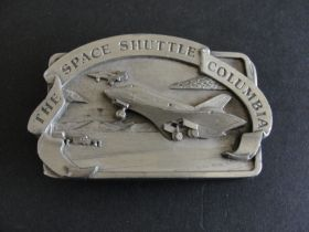 Vintage 1982 The Space Shuttle Columbia Belt Buckle
