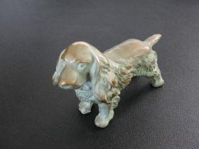 "Antique Bronze Miniature Dog Statue 4 x 3 3/4"""