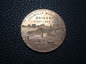 1929 Louisville Municipal Bridge Commemorative Opening Medal 32mm Gilt