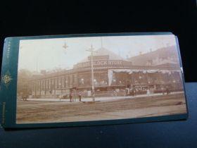 1880's Rare Original Donaldson's Glass Block Store Minneapolis Cabinet Photo