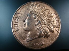1929 Union Station Kansas City Missouri Large Lucky Penny Souvenir Medal 71mm