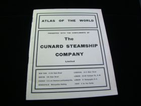 1911 The Cunard Steamship Company Atlas Of The World 38 Pages