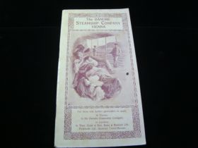 1912 Danube Steamship Company Vienna Travel Guide 74 Pages