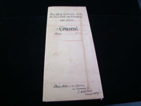 1884 New York, Ontario and Western Railway Consent Legal Document Signed