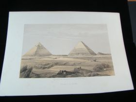 1856 Pyramids Of Giza Color Tinted Lithograph Published By Day & Son London