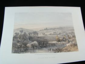 1855 Jerusalem From The North Color Tinted Lithograph Published By Day & Son