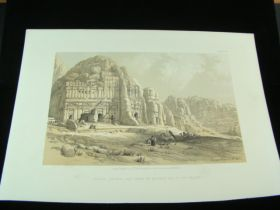 1856 Petra Eastern End Of Valley Color Tinted Lithograph Published By Day & Son