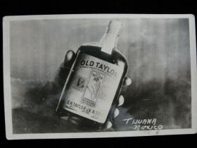 """1926 """"Old Taylor Bourbon"""" Advertising Real Photo Postcard"""