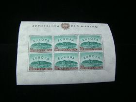 San Marino Scott #490a Sheet Of 6 Mint Never Hinged